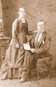 SARAH AND GEORGE MOORE. 19TH CENTURY