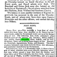 ANNE MORAN AND THE HERCULES IN 1801