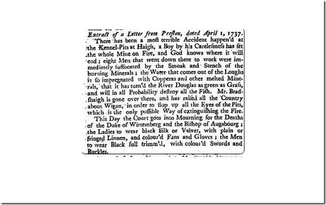 letter from preston 1737