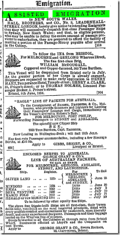 ass emig The Bristol Mercury (Bristol, England), Saturday, June 24, 1854; Issue 3353.
