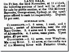 FATTORINI CREEK LOTSThe Sydney Morning Herald  Tuesday 20 November 1849