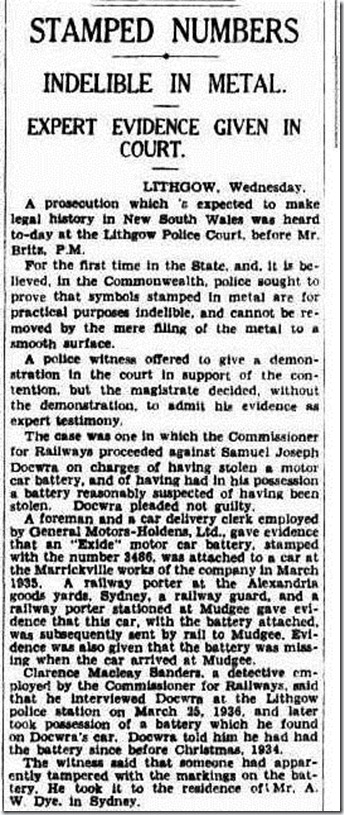 clarrie The Sydney Morning Herald (NSW  1842-1954), Thursday 30 April 1936,