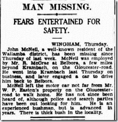 mcneil drown The Sydney Morning Herald (NSW 1842 - 1954), Friday 20 June 1930,