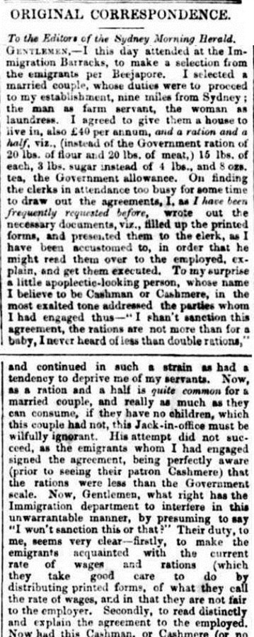 CASHMAN The Sydney Morning Herald (NSW 1842 - 1954), Tuesday 8 March 1853