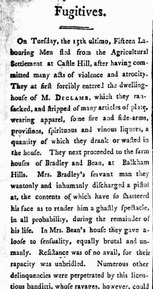 HERCULES ATLAS The Sydney Gazette and New South Wales Advertiser (NSW  1803 - 1842), Saturday 5 March 1803,
