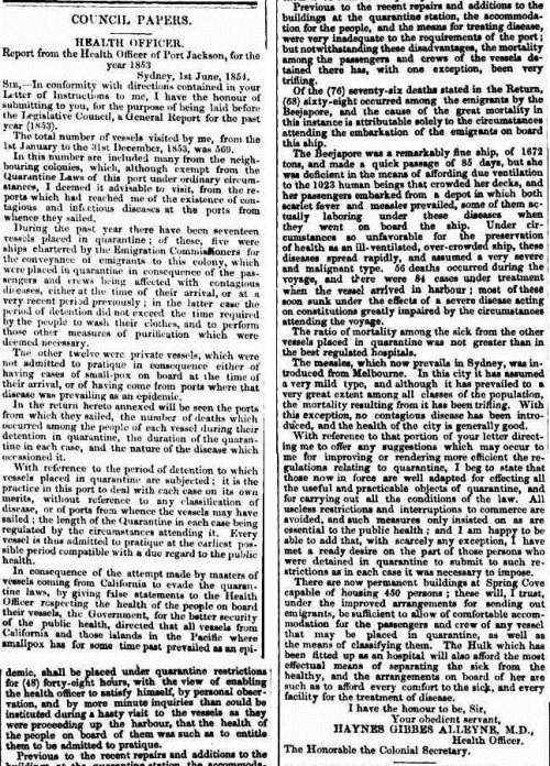 The Sydney Morning Herald (NSW 1842 - 1954), Saturday 5 August 1854