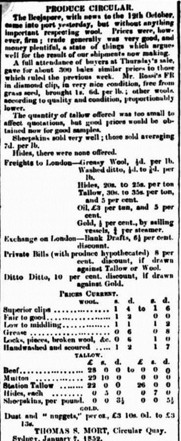 wool Empire (Sydney, NSW 1850 - 1875), Saturday 8 January 1853,