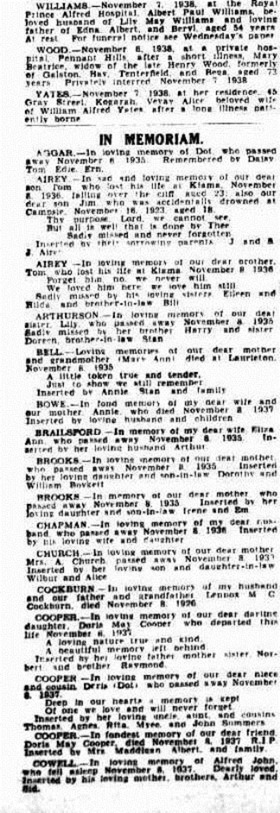 The Sydney Morning Herald (NSW 1842 - 1954), Tuesday 8 November 1938,