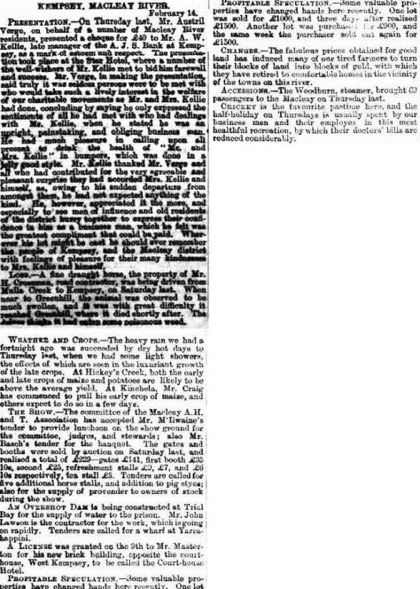 CRAIG Evening News (Sydney, NSW 1869 - 1931), Wednesday 25 February 1885,