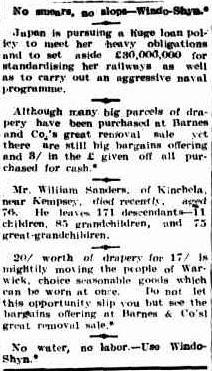 Warwick Examiner and Times (Qld. 1867 - 1919), Wednesday 18 January 1911,
