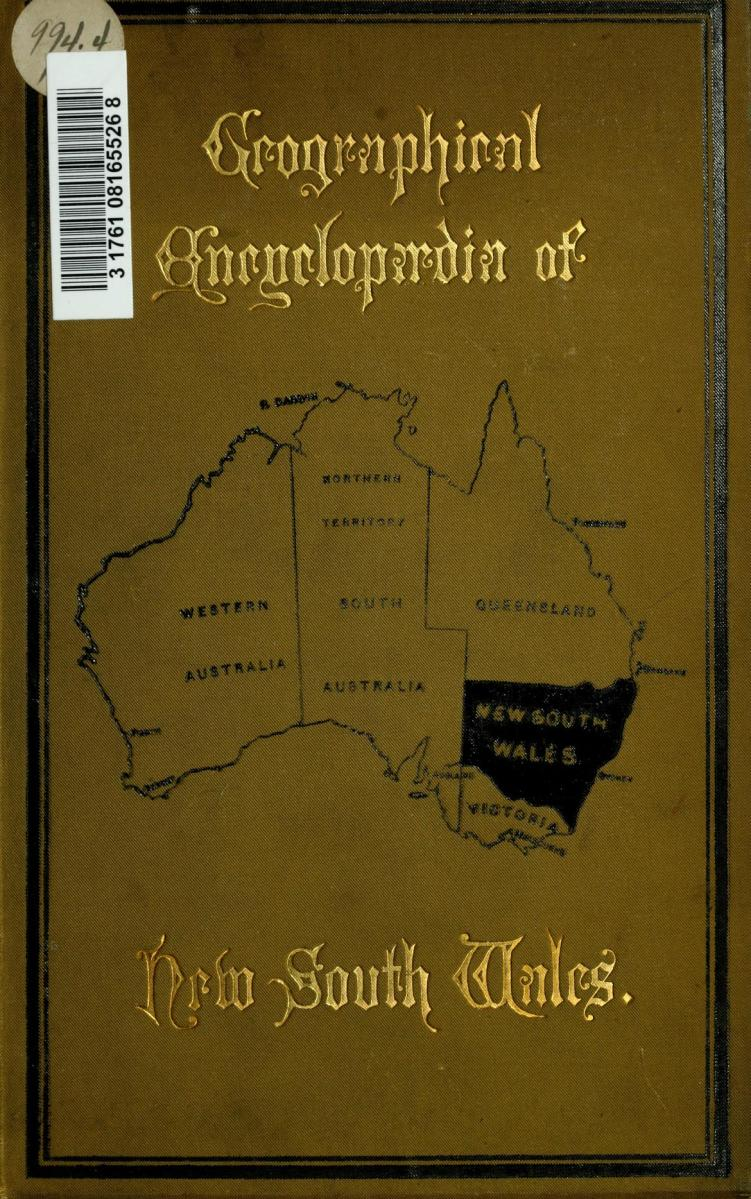 GEOGRAPHICAL ENCYCLOPAEDIA OF NEW SOUTH WALES